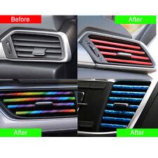 10 Pcs Auto Colorful Air Conditioner Air Outlet Decoration Strip Car Accessories