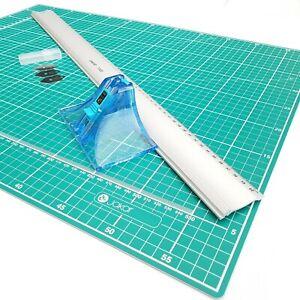 Jakar A3 Picture Photo Mount Cutter 40cm Guide Ruler & Cutting Mat Set Kit