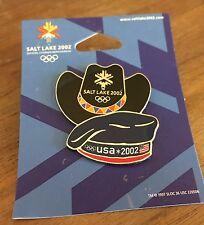 USA Cowboy Hat / Team Beret Salt Lake City 2002 Olympic Pin