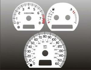 2000-2002 Volvo S40 Dash Cluster White Face Gauges 00-02