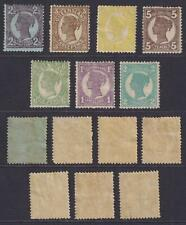 QUEENSLAND  INTERESTING MINT HINGED  COLLECTION REMOVED FROM STOCK SHEET - W407