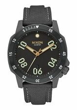 NWT NIXON RANGER NYLON ALL GUNMETAL WATCH A9421418