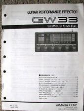 Yamaha GW33 Guitar Effector Effects Unit Original Service Manual, Schematics Etc