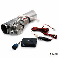 "2.0"" Electric I-Pipe Exhaust Downpipe Cutout E-Cut Out Valve System Kit + Remote"