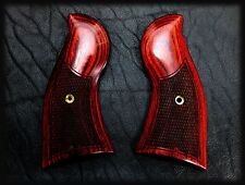 RUGER REDHAWK OXBLOOD GRIPS ~ WITH CHECKERING