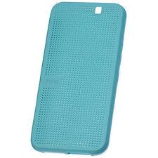CUSTODIA DOT VIEW CASE ICE ORIGINALE PER HTC M232 One M9 BLUE SMART BOOK COVER
