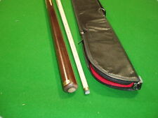 2 PIECE ASH POOL/ SNOOKER CUE WITH SOFT CASE