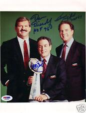 AL MICHAELS, DAN DIERDORF & FRANK GIFFORD Autograph / Signed 8x10 Photo PSA/DNA