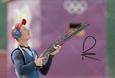 Peter Wilson Firmada A Mano 12x8 Foto Juegos Olímpicos de Londres 2012 De Oro, el 3.