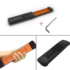 Portable Pocket Guitar Model Wooden Practice 6 Strings Guitar Trainer To JYW