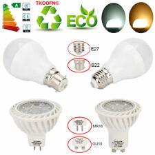 LED GU10 E27 MR16 5W 7W 9W 12W Downlight LED Bulb COB Spotlight Lamp 6/12/30 Pcs
