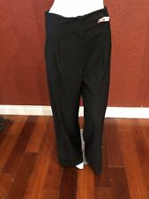 L.A.M.B WOMEN HIGH WAIST PANTS WIDE LEG BLACK WOOL BLEND SIZE 4