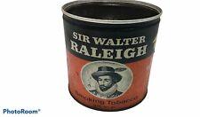 VINTAGE EMPTY SIR WALTER RAILEIGH TIN SMOKING TOBACCO CAN USA PIPE CIGARETTES