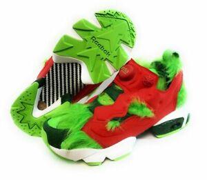 "Reebok Instapump Fury CV ""The Grinch"" Semi Solar Christmas Sneakers US 10"