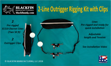 Outrigger Rigging Kit - Two 50 Ft Pre-Rigged Dacron Lines with Outrigger Clips