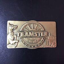 Vintage 1978 TEAMSTER Organization Solid Brass Belt Buckle 6028