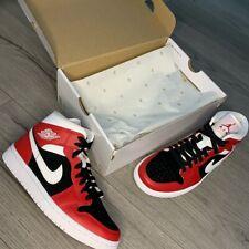 Air Jordan 1 Red / White / Black Mid UK Size 3.5