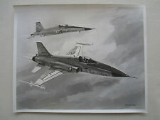 PHOTO PRESSE NORTHROP F-5E INTERNATIONAL FIGHTER AIRCRAFT ARTIST CONCEPTION