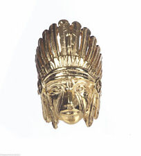 Native American Inspired 18 kt Gold Vermeil Sterling Indian Chief Headdress Ring