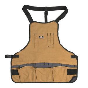 Dickies 16 Pocket Tool Bib Apron Woodworking Gardening Carpenter 57027