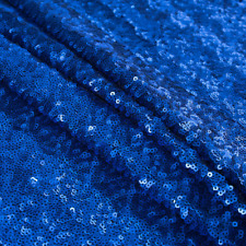 Royal Blue Sequin Fabric, Glitters Sequins Fabric, Royal Blue Full Sequin -SQRB