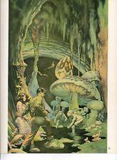 "1980 Full Color Plate ""The Secret People"" by Frank Frazetta Fantastic GGA"