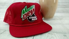 Vtg Mountain Dew Code Red Adjuatable Hat Mesh Rope
