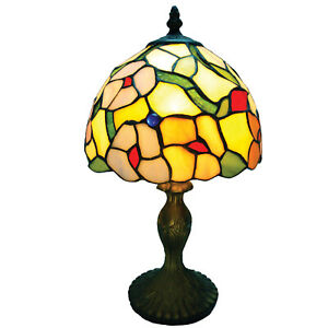 (CLEARANCE) Spring Flower Design Tiffany Stained Glass Table Lamp CR608TL