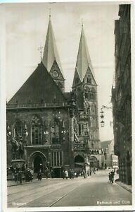 Foto-AK BREMEN Rathaus und Dom Eingang Ratskeller um 1930