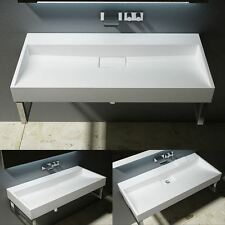Durovin Sink Wall Hung Counter Top Mount Double Stone Resin Basin