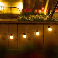 Solar Retro Ball String Lights Outdoor Garden LED Festoon Party Globe Bulb Light