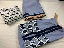 Petit Tresor 3 Pc Baby Crib Bedding Fitted Sheet, Crib Skirt, Diaper Stacker