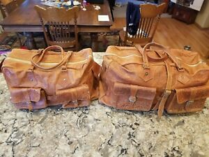 Pair ofJerusalem Unisex Genuine Leather Souvenier Travel Bags