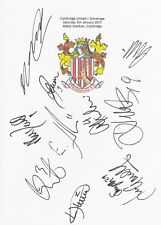 More details for two a4 white cards with the stevenage badge. signed by 20 players on 05.01.19