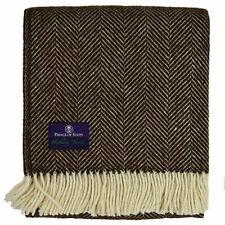 Highland Tweed Herringbone Pure New Wool Throw ~ Vanilla Bean ~