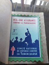 Grande vignette Timbre TUBERCULOSE 1962-1963 BCG une assurance 3 frs FRANCE