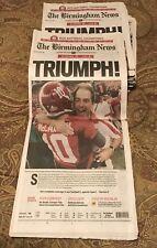 Alabama 2011 national championship newspaper. Complete newspaper.