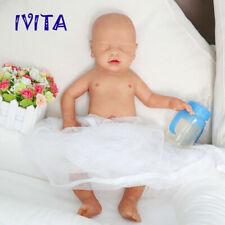 IVITA 18'' Full Body Silicone Reborn Doll Eyes Closed Sleeping Baby Boy 3100g