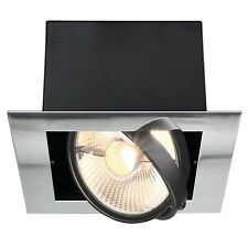 intalite AIXLIGHT PLAT SIMPLE ES111 encastré Lumière Plafond,chrome,GU10,75W