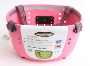 FAST RIDER Handlebar Bike Basket for Quill Stems Pink Detachable NEW