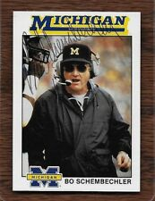 ~Rare~Bo Schembechler Michigan Wolverines 1989 Team Issued Autographed FB Card.