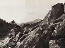 1926 Vintage IRELAND SCALP MOUNTAINS Boulders Landscape Photo Art By E.O. HOPPE