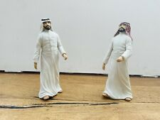 More details for rare pair of mint condition wedgwood porcelain figures of traditional arab men