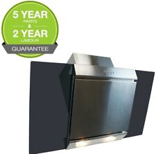 Cooker Hood 60cm Angled Extractor Chimney Hood  Glass & Stainless Steel ElectrIQ