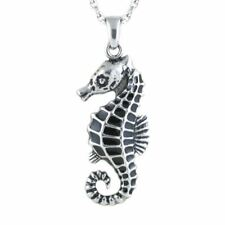 Seahorse Necklace Ocean Animal Pendant Stainless Steel Jewelry By Controse