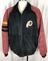Vintage Washington Redskins G III Carl Banks Leather Coat Jacket NFL Size XL