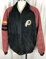 Vintage Washington Redskins G III Carl Banks Leather Coat Jacket NFL Size XL