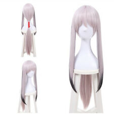 Pink Black Multi Color Straight Ponytail Lolita Long Hair Cosplay Wig Full Wigs