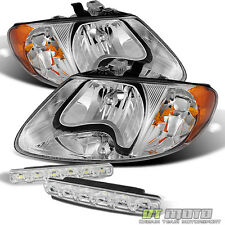 For 01-07 Caravan Town&Country 01-03 Voyager Replacement Headlights+Smd Bumper