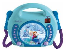 Frozen niños CD Player con 2 micrófonos, Frozen karaoke música apéndice, nuevo